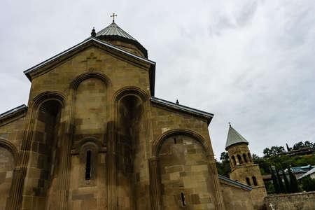 Famous Samtavro monastery in Mtskheta old town, in Georgia