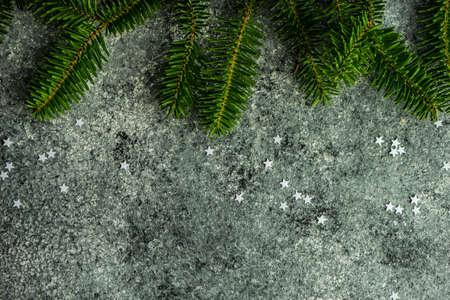 Christmas background with variety of white stars Stockfoto