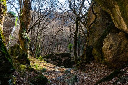 Famous Birtvisi canyon in Kvemo Kartli region in Georgia