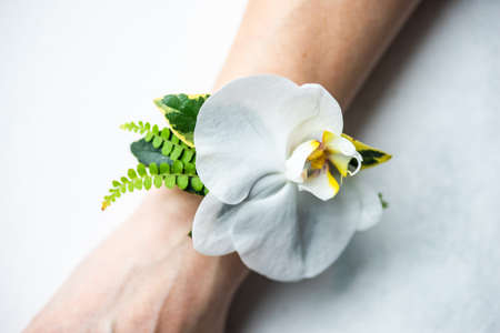 Floral composition for woman as a wedding hand decor