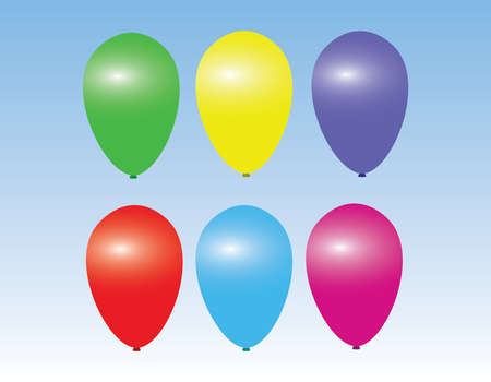 Colorful air balloons Vector illustration.