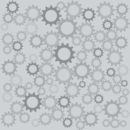 Gray color gears for industrial background Illustration