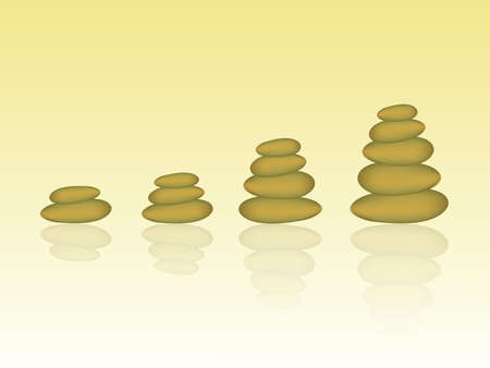 Stack of golden pebbles to represent success and growth in business vector illustration