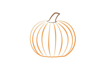 A fresh organic orange pumpkin logo on white background vector illustration