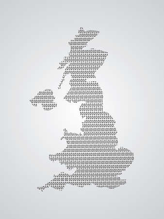 United Kingdom or UK map vector illustration using binary numbers or signs to represent digital country Ilustrace