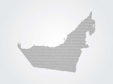 United Arab Emirates or UAE vector map illustration using binary digits or numbers on light background to mean digital country and advancement of technology Illustration
