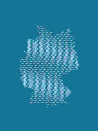 Germany vector map using white binary digits on dark background to mean digital country and the advancement of technology illustration 일러스트