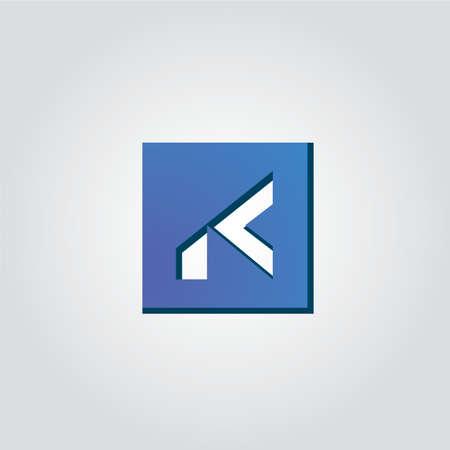 K Letter design 3d style