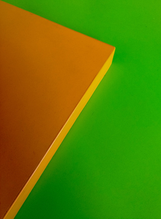 abstract orange-green background mage of decorative architectural indoors panels