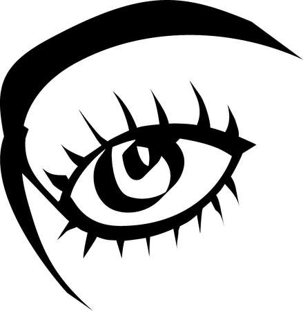 eye minimalist black continuous line drawing on white, isolated Reklamní fotografie - 116374159