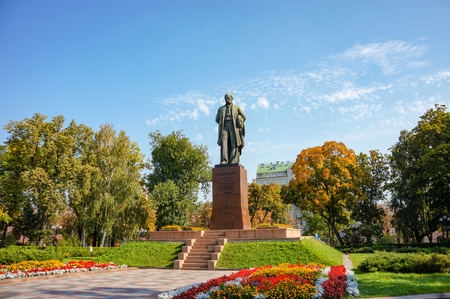 Kiev, Monument to the Ukrainian poet Taras Shevchenko in the park of Taras Shevchenko. Reklamní fotografie - 116374270