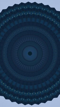 abstract classic blue background with gears, kaleidoscopic texture Фото со стока