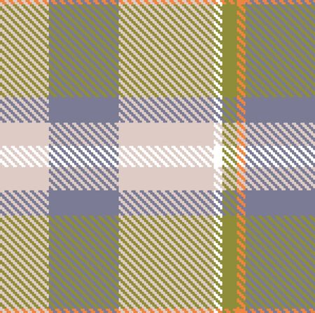 The element of the repeating pattern for a plaid in a classic style in warm colors. Seamless.