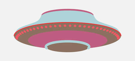 UFO - Flying saucer, unidentified flying object flat style illustration isolated on white background Stock Illustratie