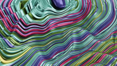 Texture of surface, multi-colored stripes with a fashionable color scheme, 3d rendering, fabric, mathematical surface, screensaver for a smartphone, monitor, embossed plane
