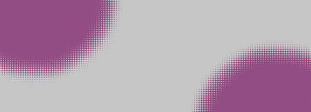 Creative panoramic background, space for text, template for your layout, panoramic with colored spots with halftone style gradients at corners, 3D rendering, banner, greeting, postcard style Foto de archivo
