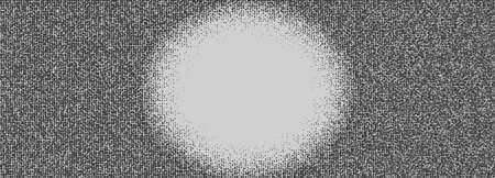 Graphic style modern texture background with big spot, raster gradient, made of dotds, space for text, 3D rendering