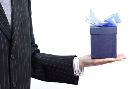 Businessman with gift Stock Photo - 333108