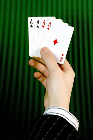 Four ace in a business hand