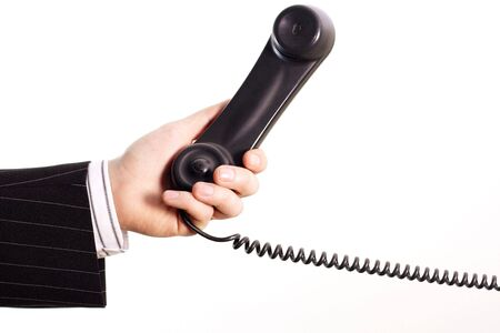 Telephone in a business hand photo