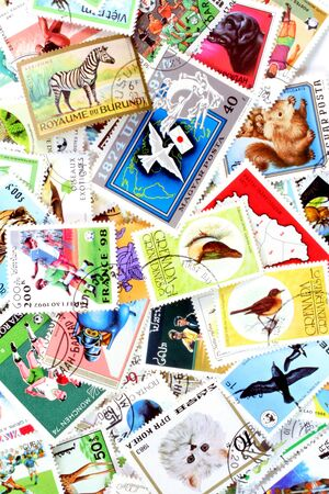 mailed: Collection of used stamps