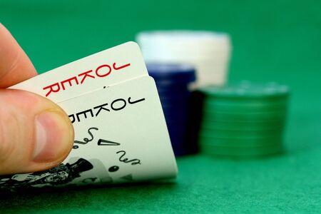 hold em: Joker and poker chips