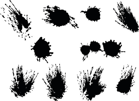 These are black vector splats silhouette