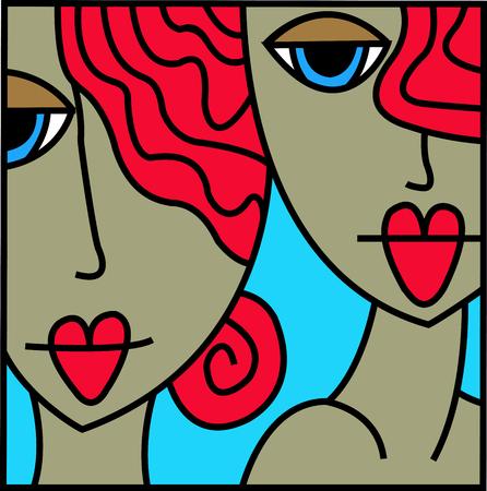 girl: nice girl Illustration