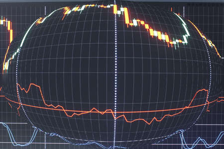 Stock Diagramm Abstraktion Ballon in der Zukunft Standard-Bild - 72522752