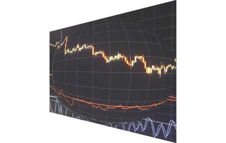 Stock Diagramm Abstraktion Ballon in der Zukunft Standard-Bild - 72522753