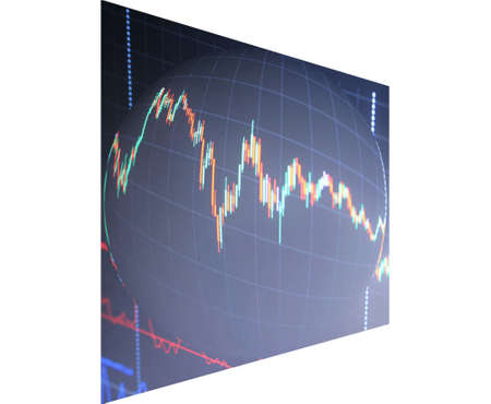 stock chart abstraction balloon in the future