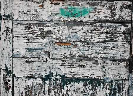 Hintergrund des gemalten Brettes Alte blaue und weiße Farbe Standard-Bild - 74764979