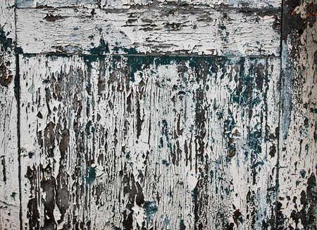 Hintergrund des gemalten Brettes Alte blaue und weiße Farbe Standard-Bild - 74765912