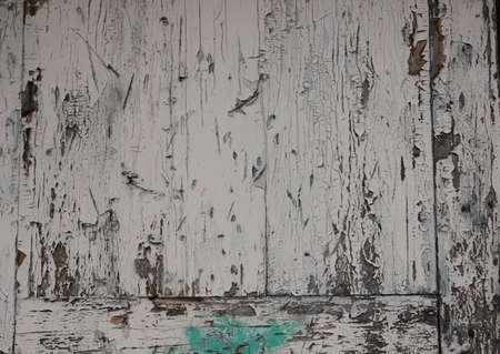 Hintergrund des gemalten Brettes Alte blaue und weiße Farbe Standard-Bild - 74765914