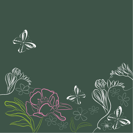 Herbal decorative background Vector