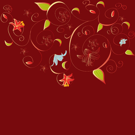 Red decorative background Stock Vector - 5979819