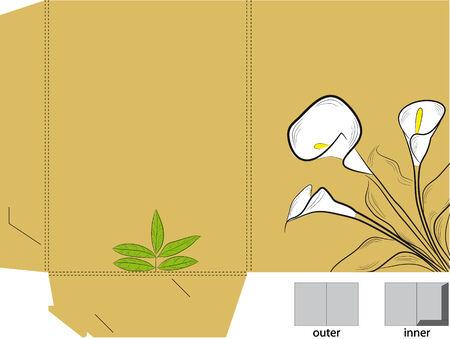 die: Decorative folder with die cut (flowers)