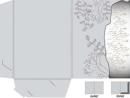 Retro decorative folder  Vector