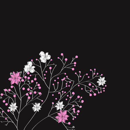 Decorative background with spring flowers Stock Vector - 6027590