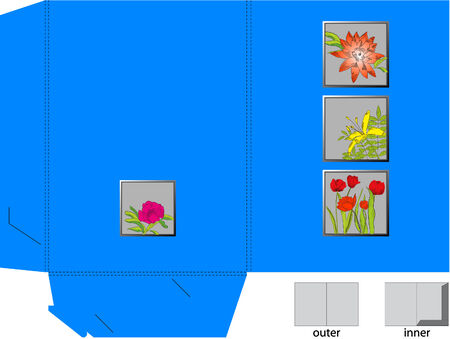 Decorative folders with flowers  Vector