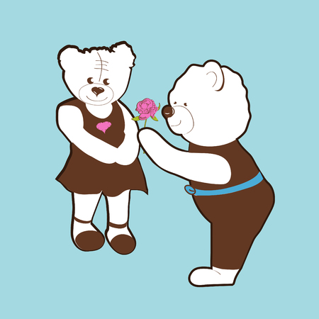 Valentine bears vector Vector