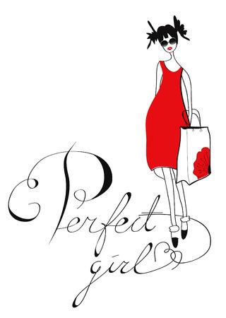 Perfect girl Vector