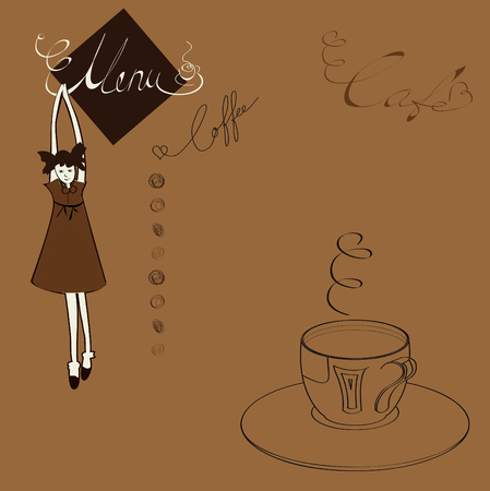 Menu for cafe Stock Vector - 6322500