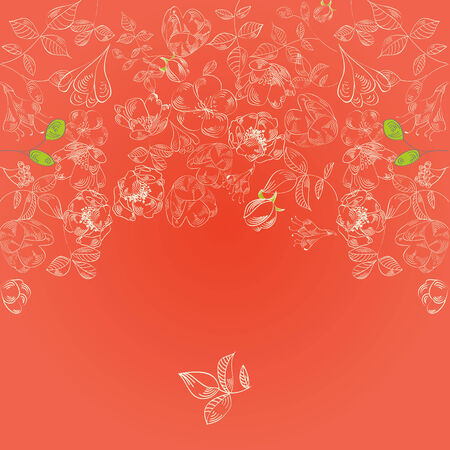 Red template for greeting card