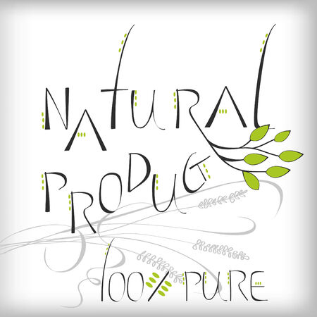 Natural product - label or sticker for products Stock Vector - 6322523