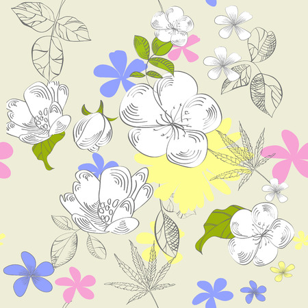 Seamless floral ornament Stock Vector - 6381791