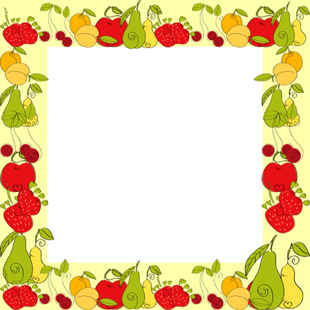 Fruit border Vector