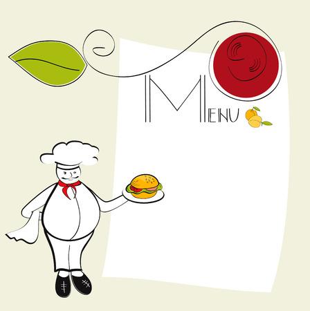 sesame seeds: Template for menu Illustration