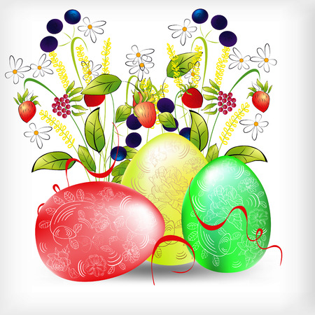 background with easter egg Stock Vector - 6436150
