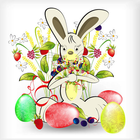 Rabbit with easter egg Stock Vector - 6470520
